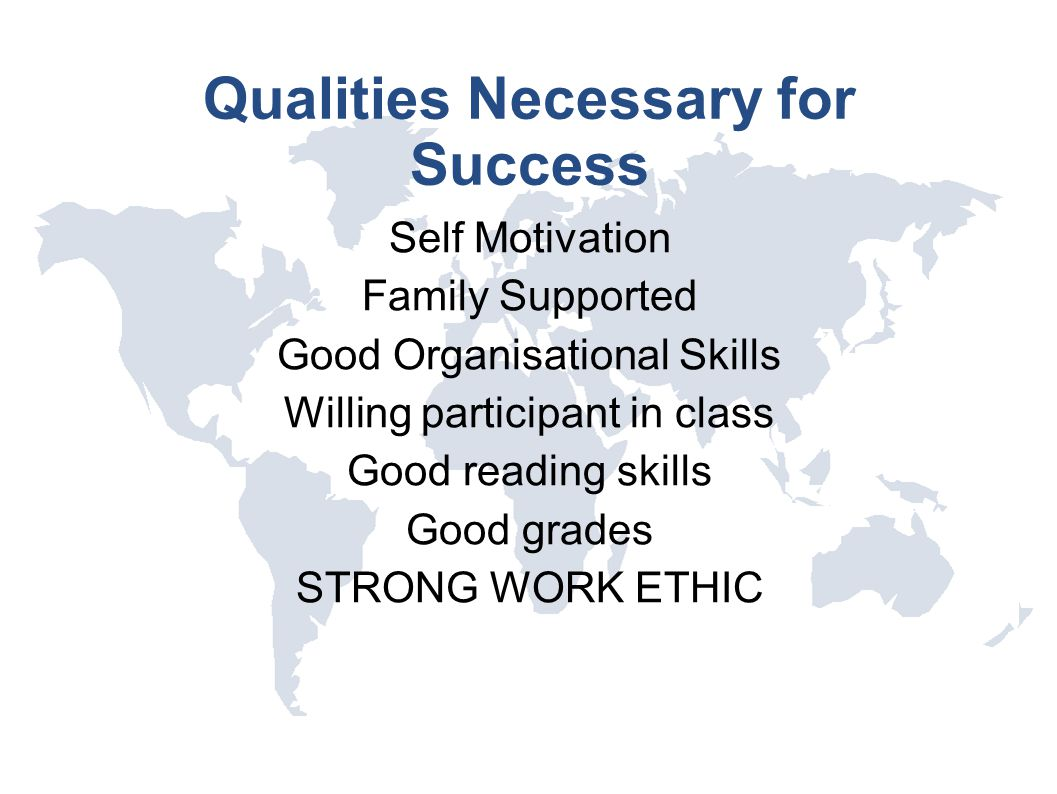 Qualities Necessary for Success