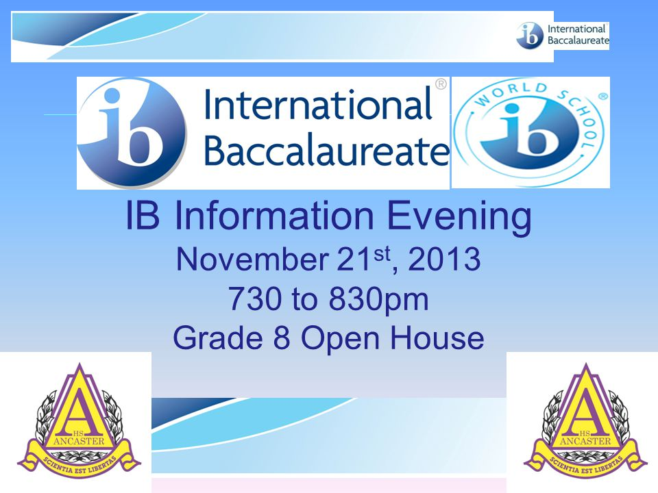 IB Information Evening