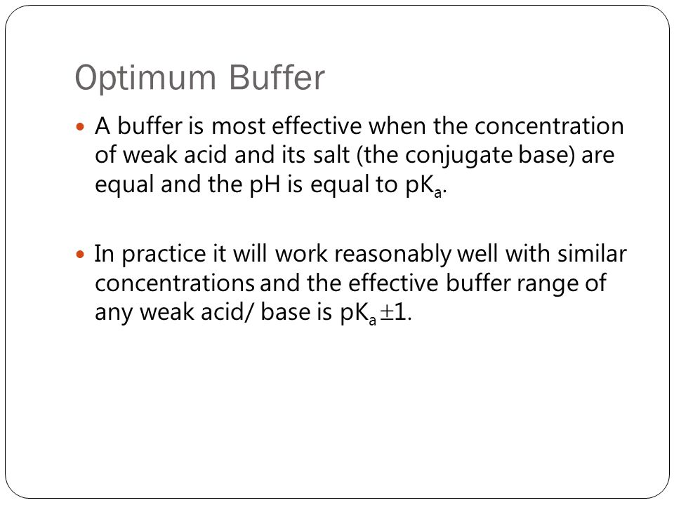 Optimum Buffer