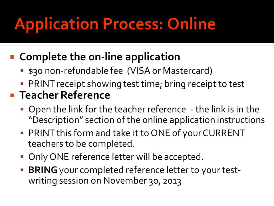 Application Process: Online