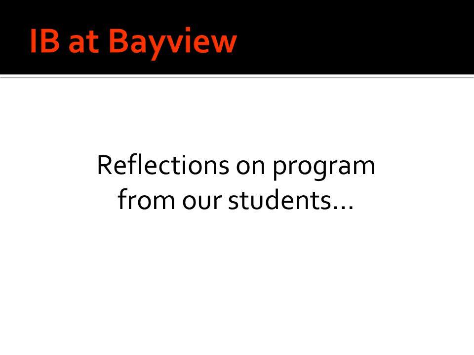 Reflections on program