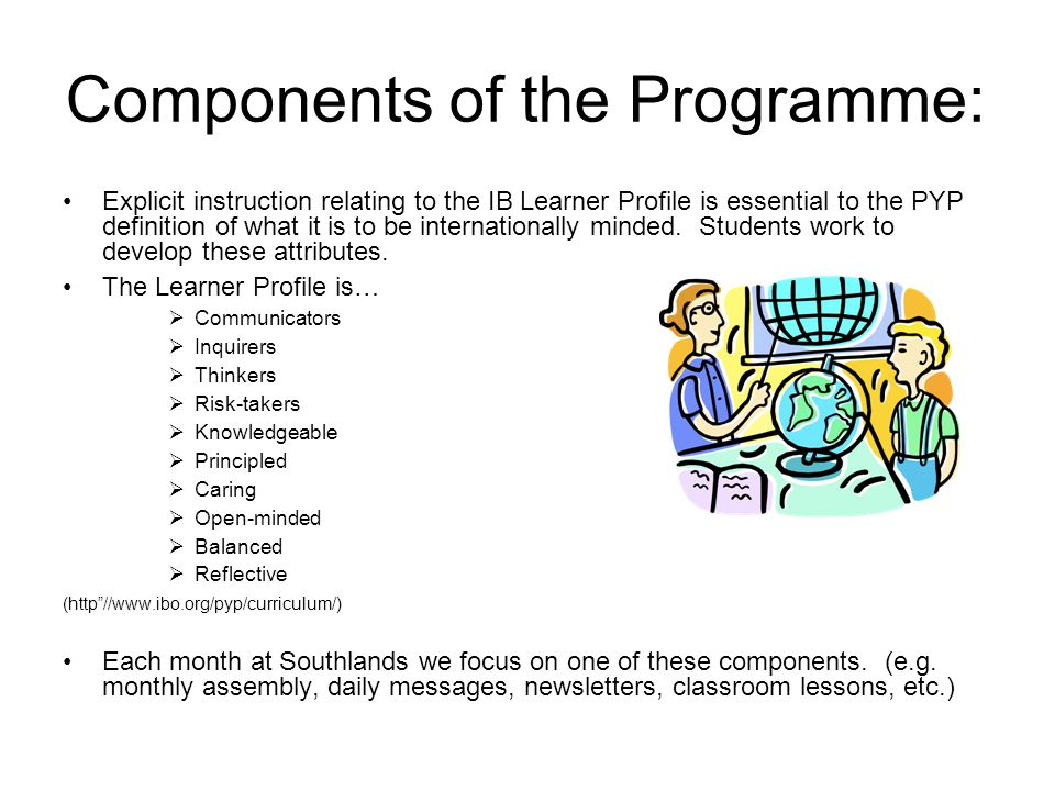 Components of the Programme: