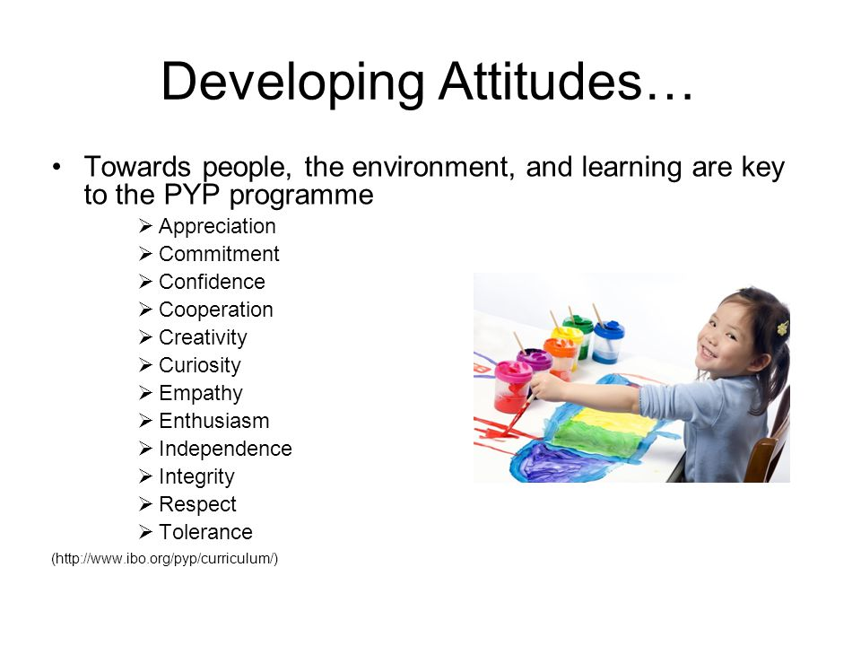 Developing Attitudes…