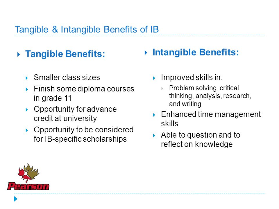 Tangible & Intangible Benefits of IB