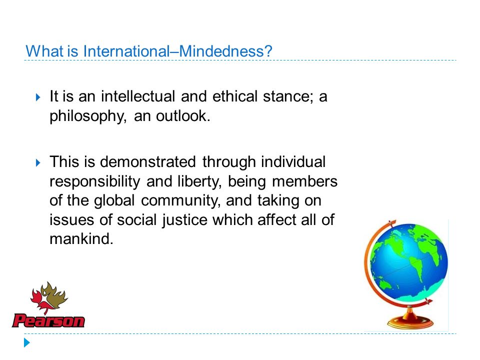 What is International–Mindedness