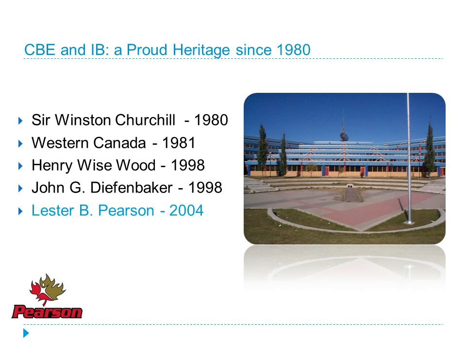 CBE and IB: a Proud Heritage since 1980