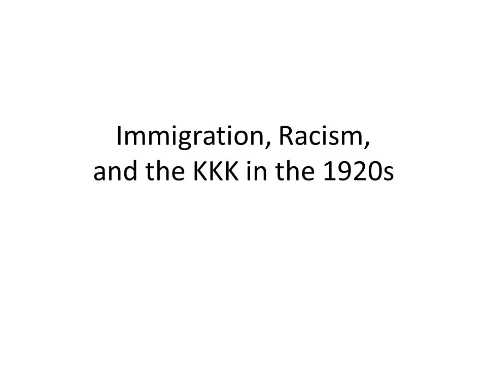 an analysis of the immigration and discrimination in the 1920s Free term paper on imigration and discrimination in the 1920s available totally upon america's fears of immigration to further market analysis.