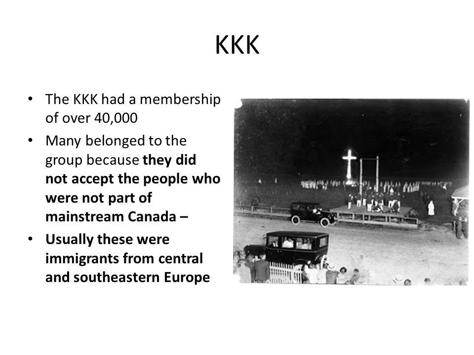 KKK The KKK had a membership of over 40,000