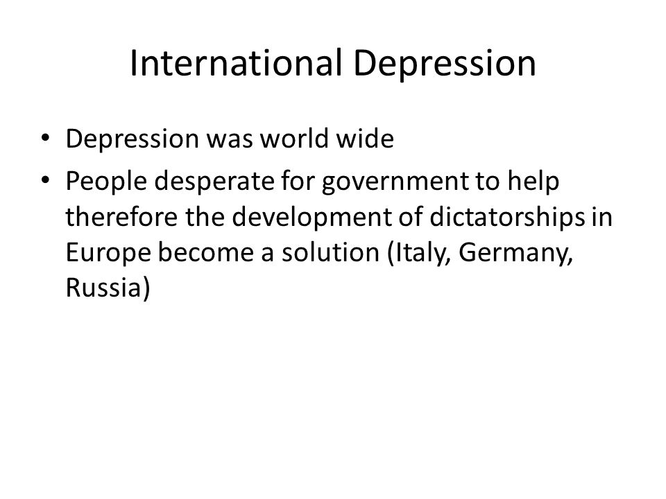 International Depression