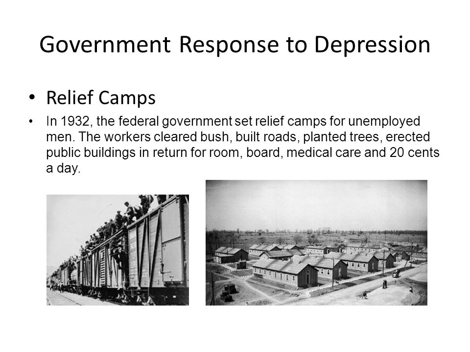 Government Response to Depression