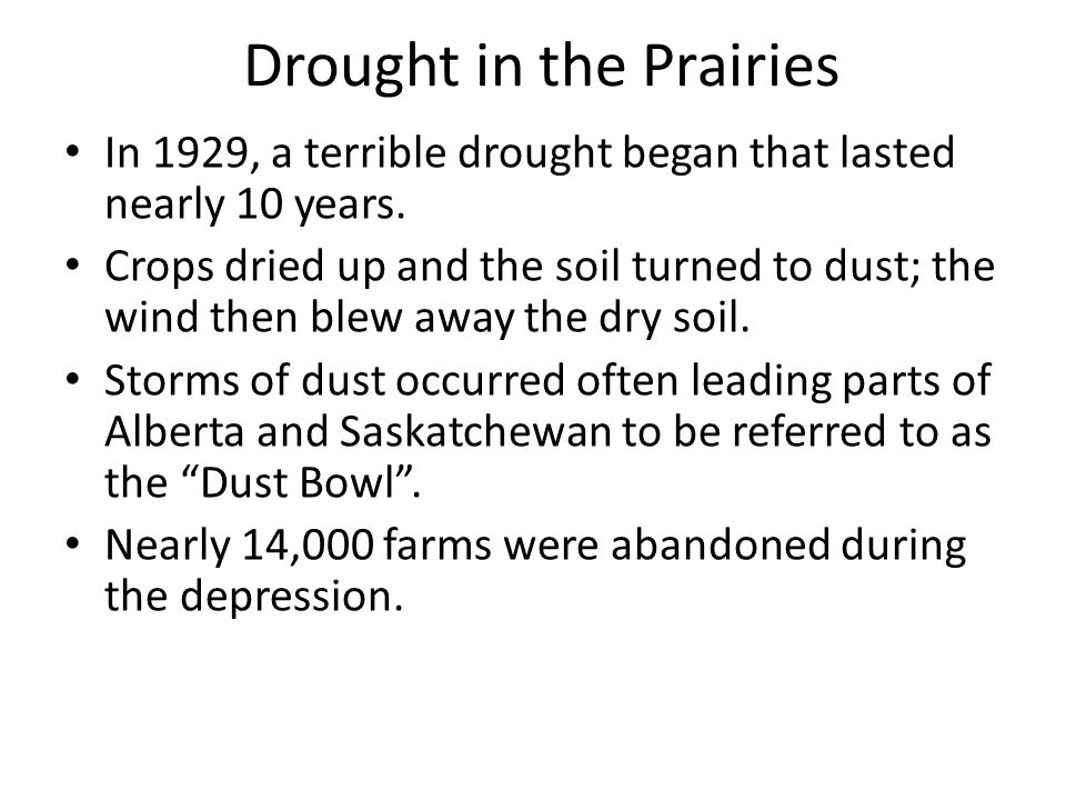 Drought in the Prairies
