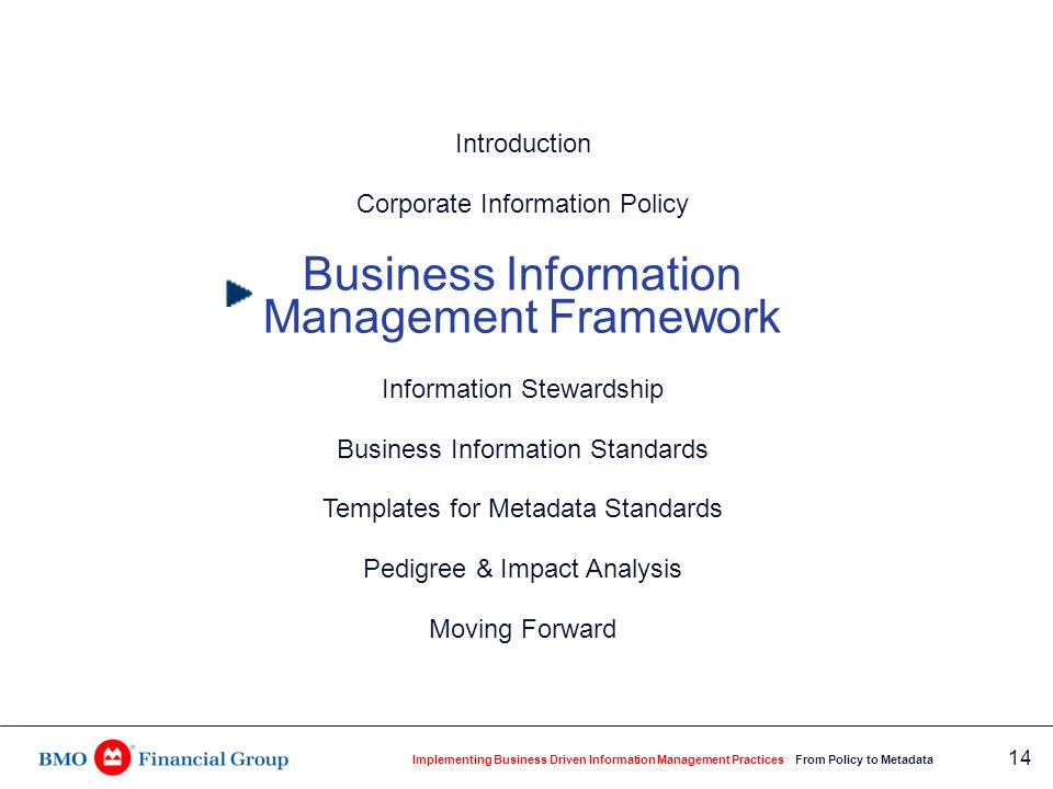 Business Context for Information Management
