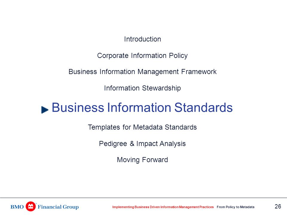 Business Standards for Customer Information