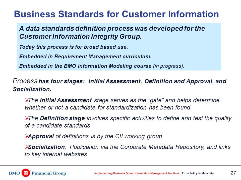 Flow Chart for Business Standards