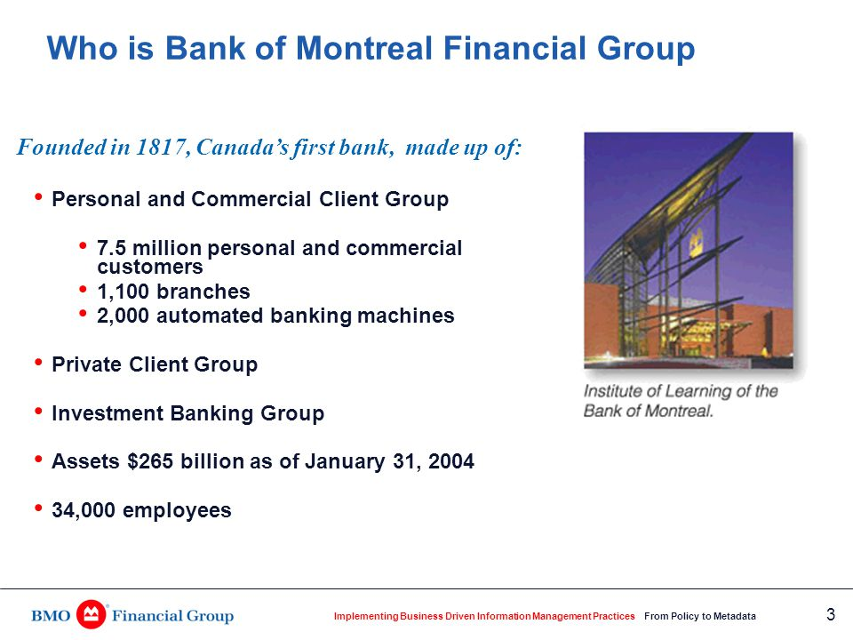 Bmo financial history review guidelines