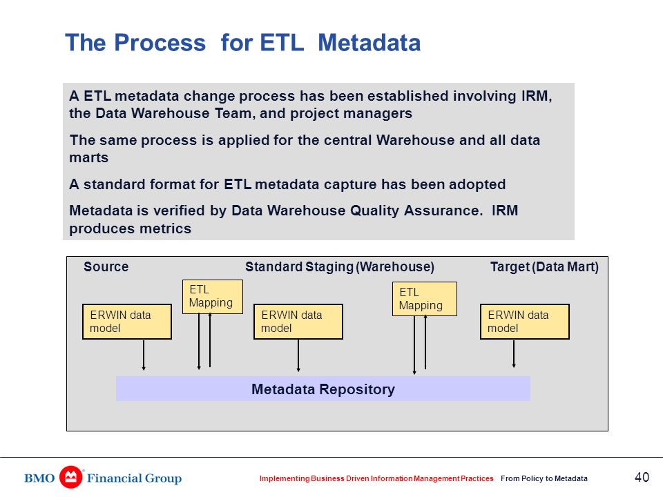 ETL Metadata Change Management Process