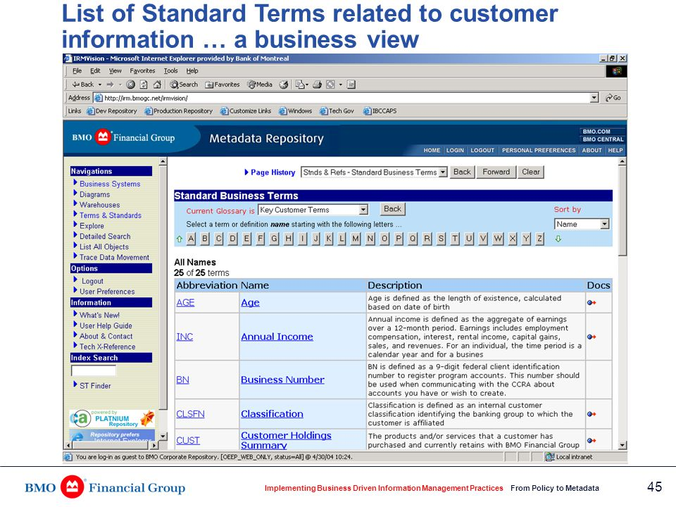 What elements comprise the standard term 'language' … detailed business view
