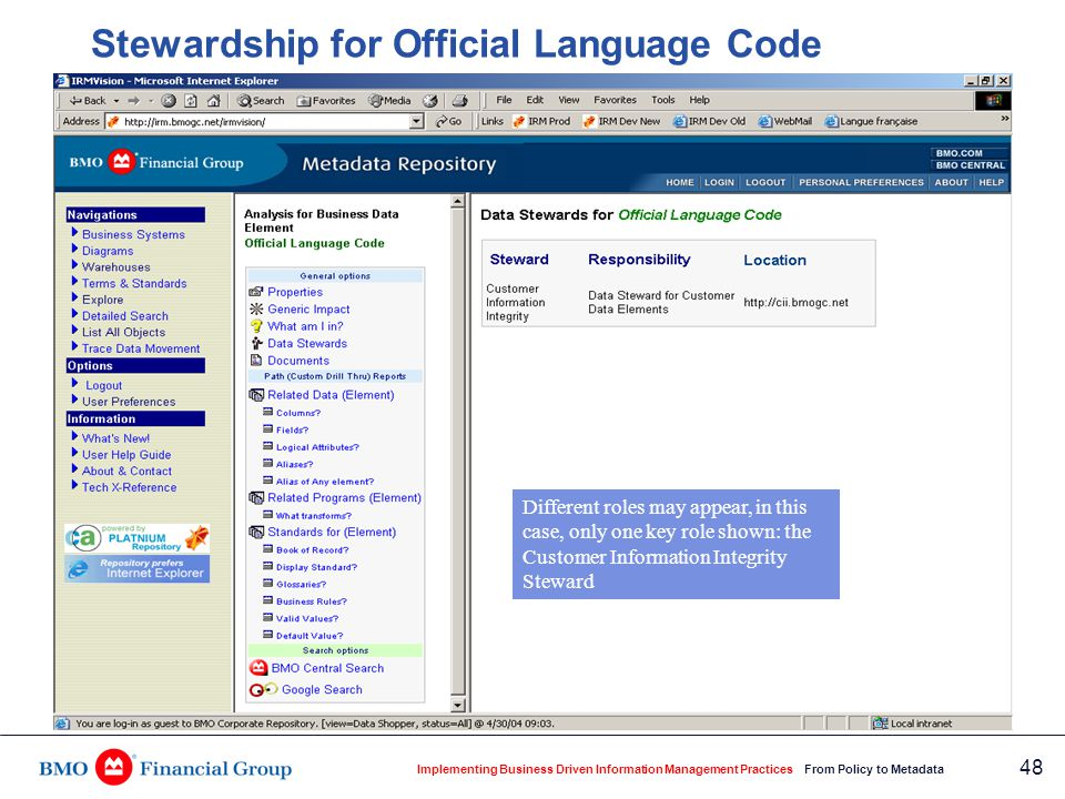 Where is official language code used