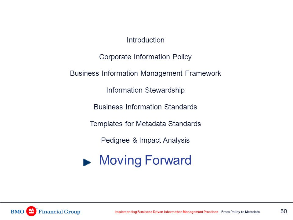Moving Forward IM Policy and Gap Study Information Stewards Processes