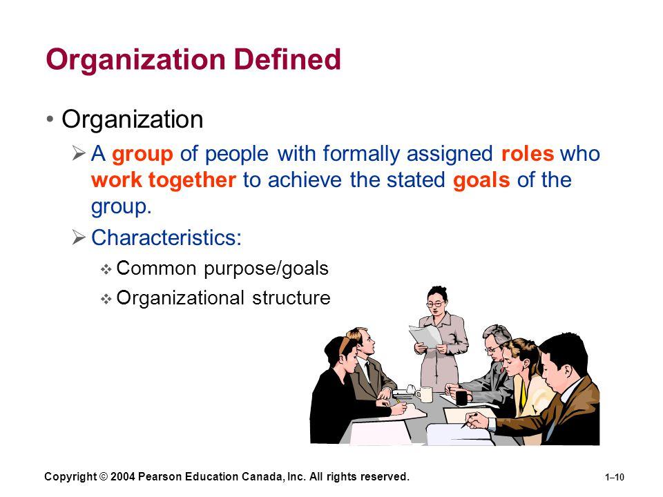 Organization Defined Organization