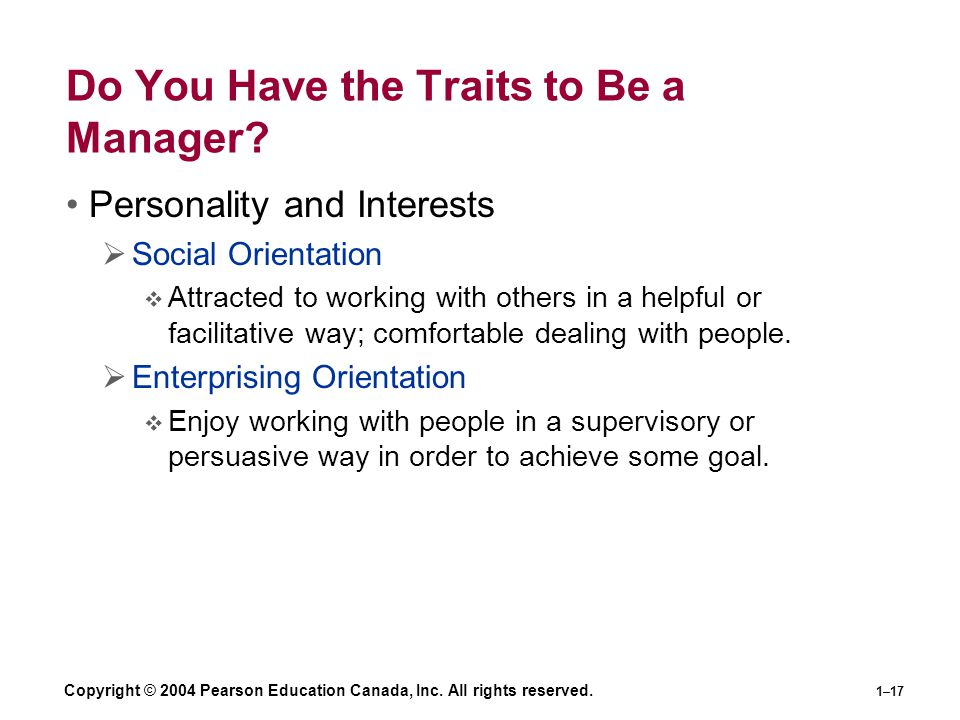 Do You Have the Traits to Be a Manager