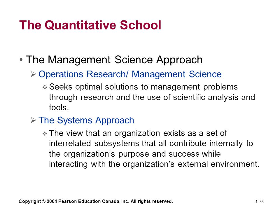 The Quantitative School