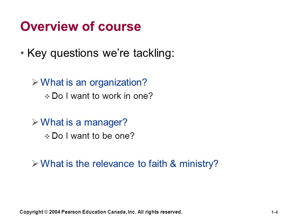Overview of course Key questions we're tackling: