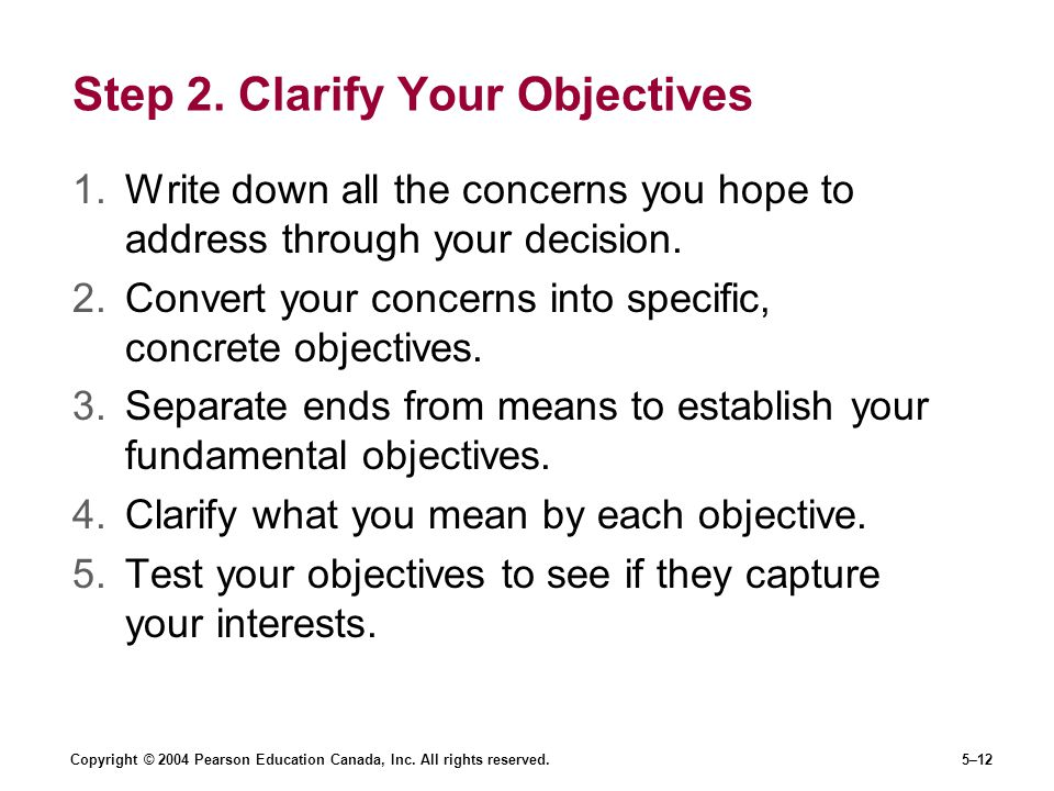Step 2. Clarify Your Objectives