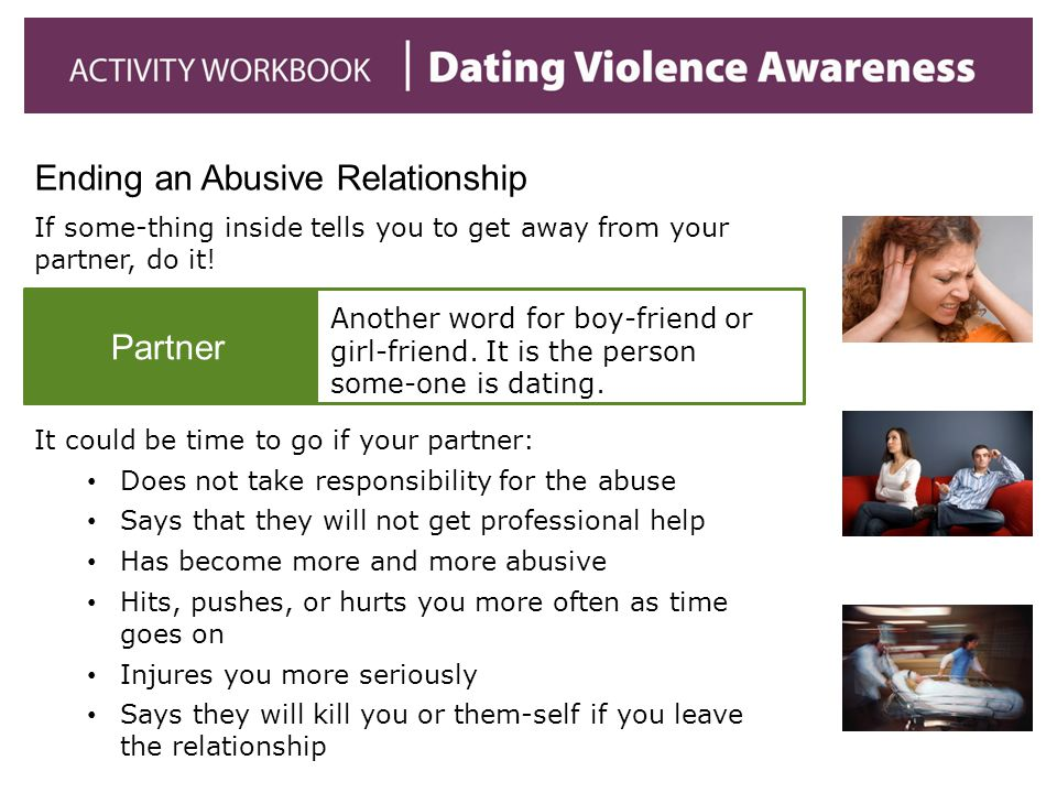 abusive relationship topic sentence