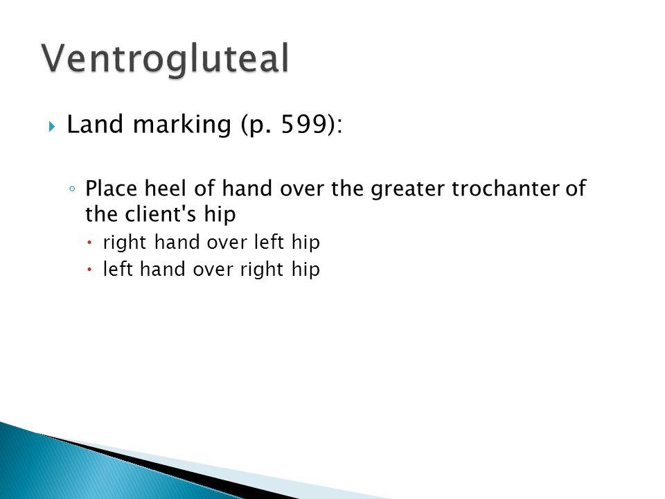 Ventrogluteal Land marking (p. 599):