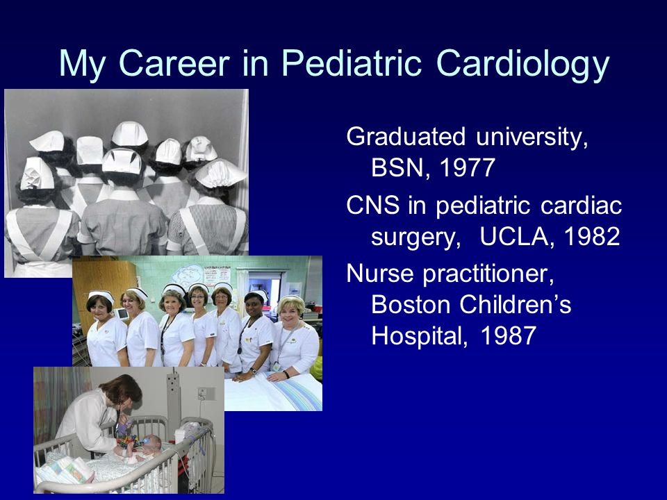 My Career in Pediatric Cardiology