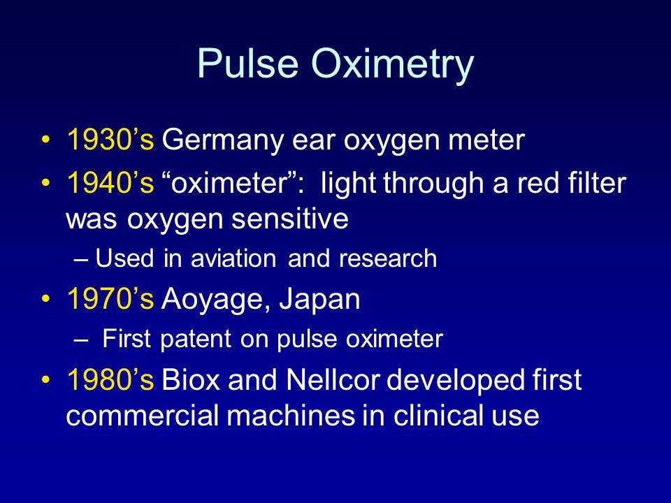 Pulse Oximetry 1930's Germany ear oxygen meter