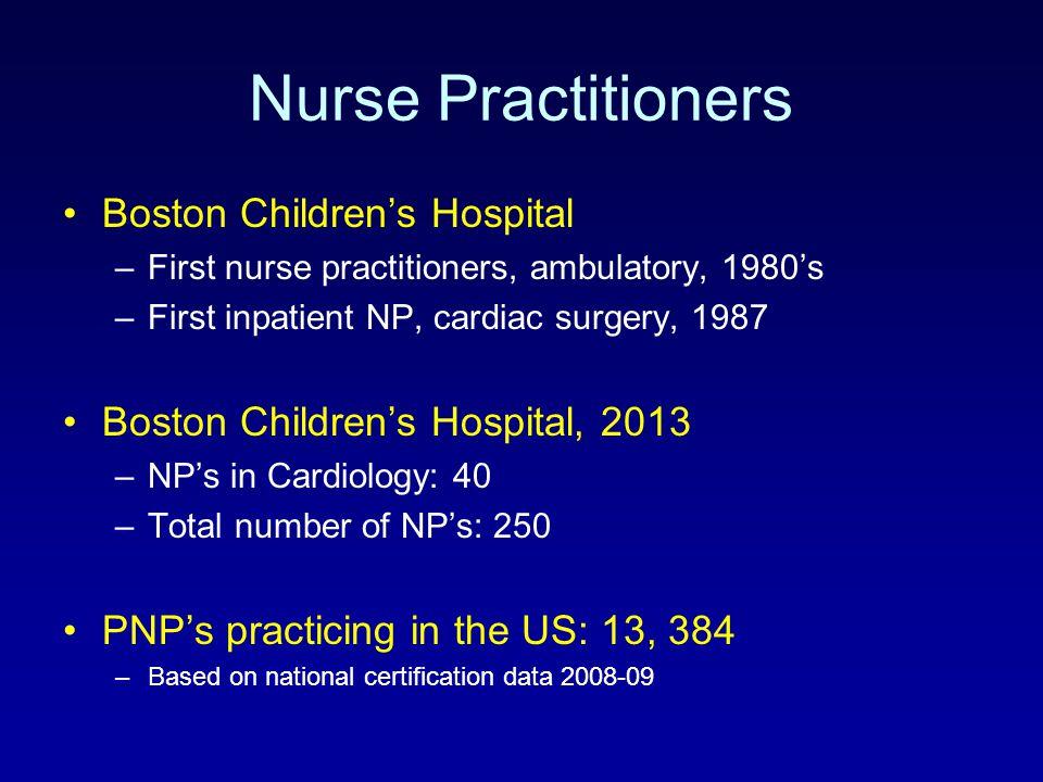 Nurse Practitioners Boston Children's Hospital