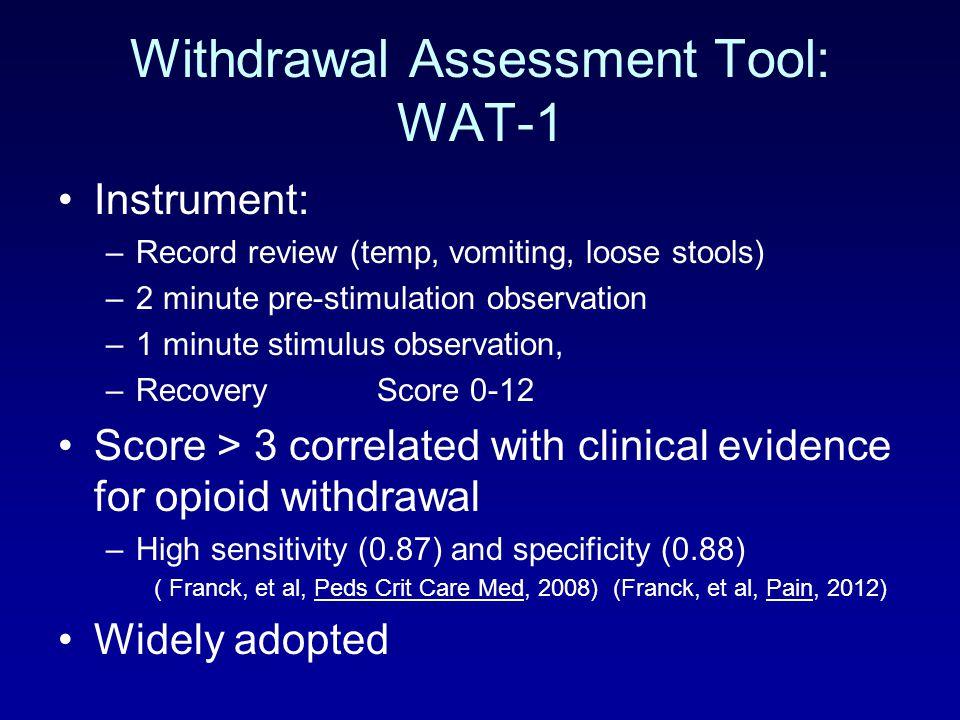 Withdrawal Assessment Tool: WAT-1