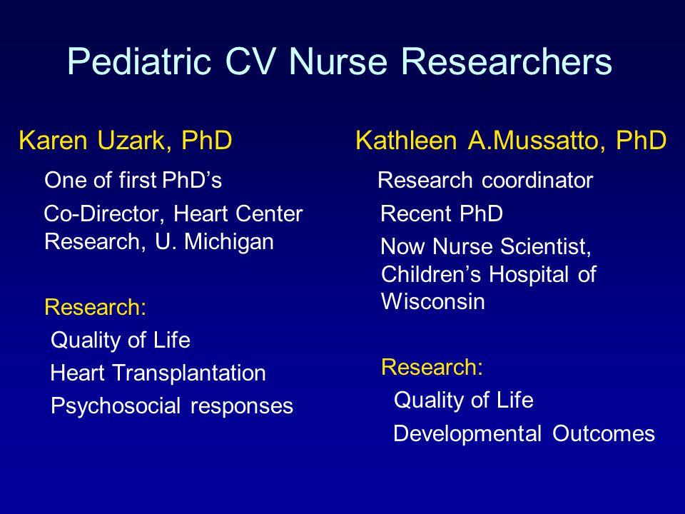Pediatric CV Nurse Researchers