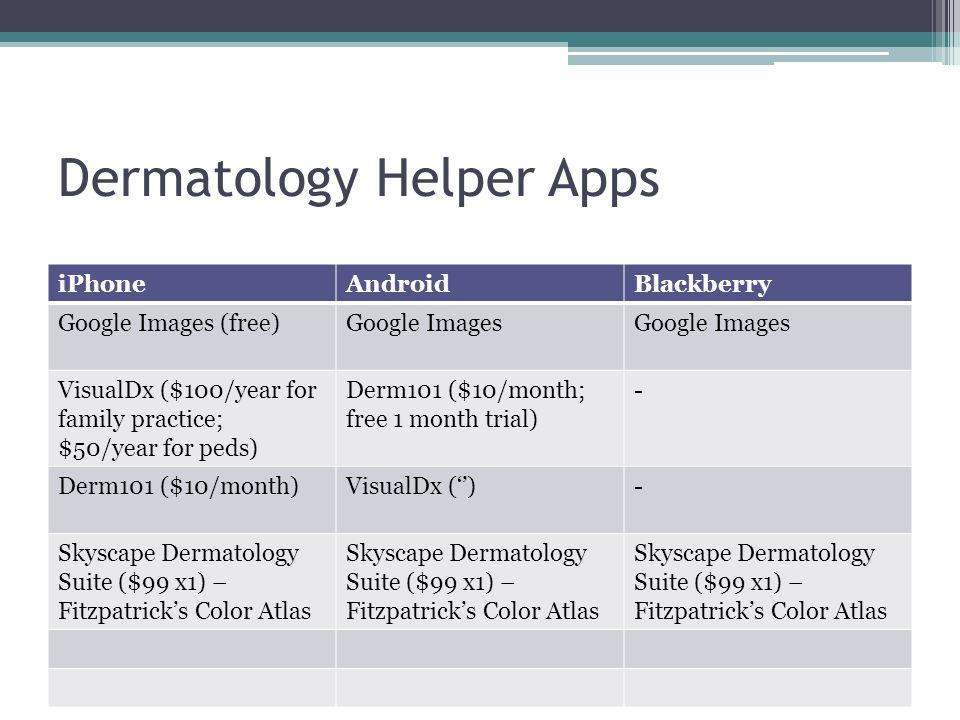 Dermatology Helper Apps