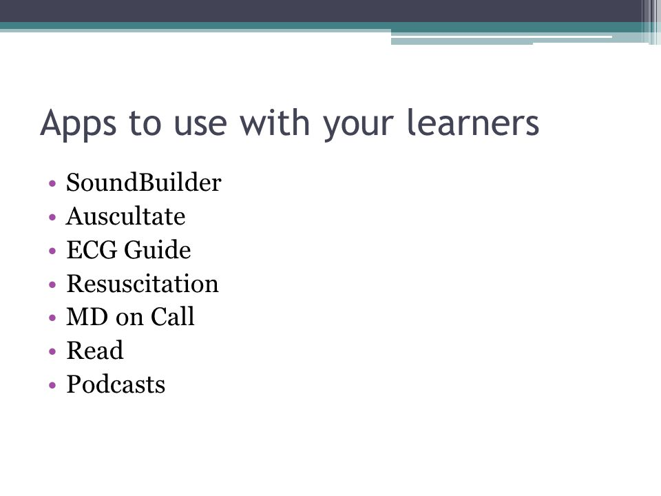 Apps to use with your learners