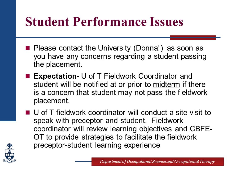 Student Performance Issues