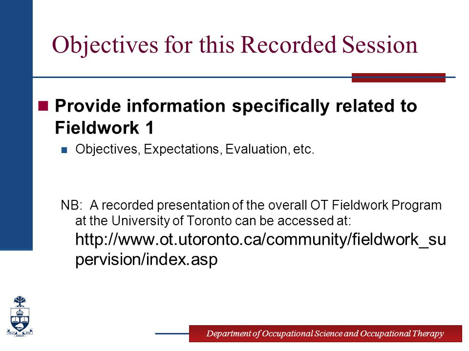 Objectives for this Recorded Session