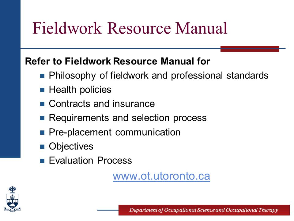 Fieldwork Resource Manual