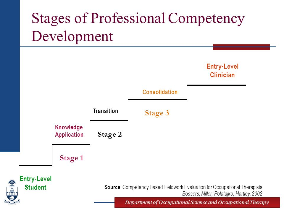 Stages of Professional Competency Development