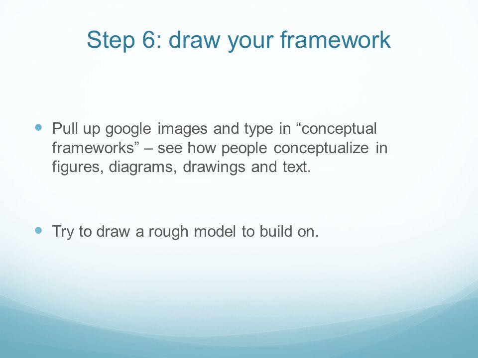 Step 6: draw your framework