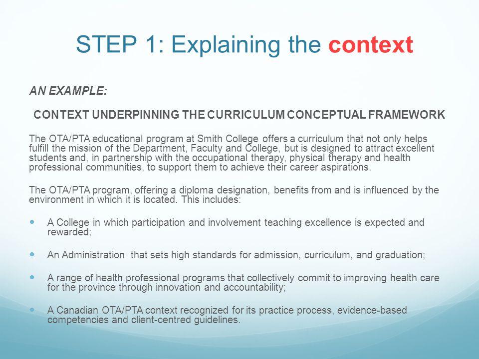 STEP 1: Explaining the context