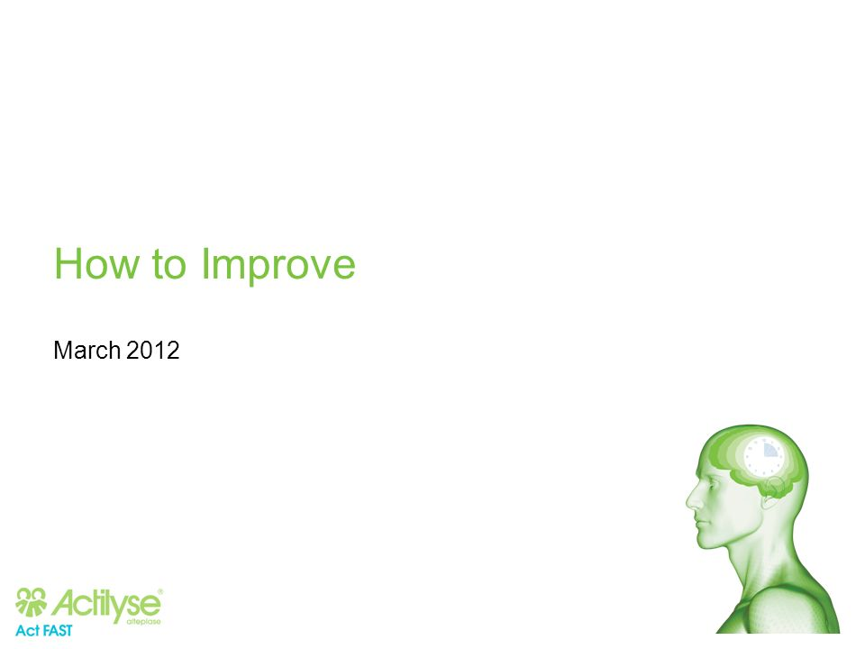 How to Improve March 2012