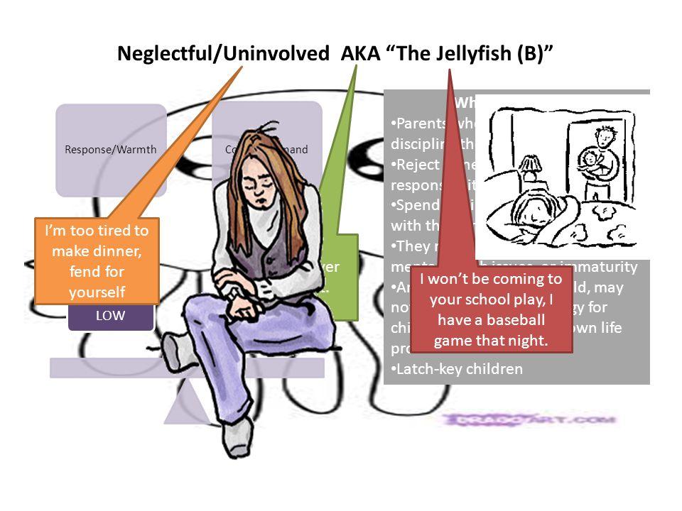 Neglectful/Uninvolved AKA The Jellyfish (B)
