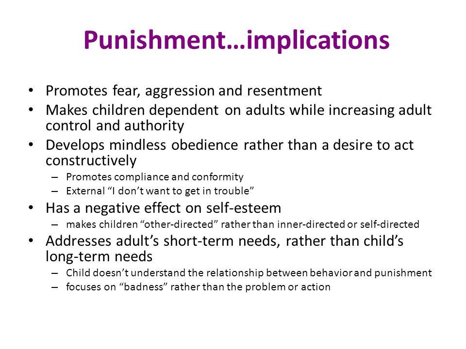 Punishment…implications
