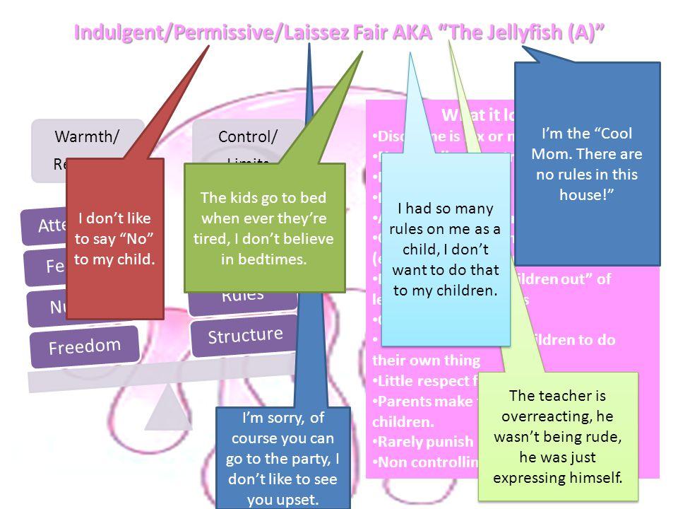 Indulgent/Permissive/Laissez Fair AKA The Jellyfish (A)