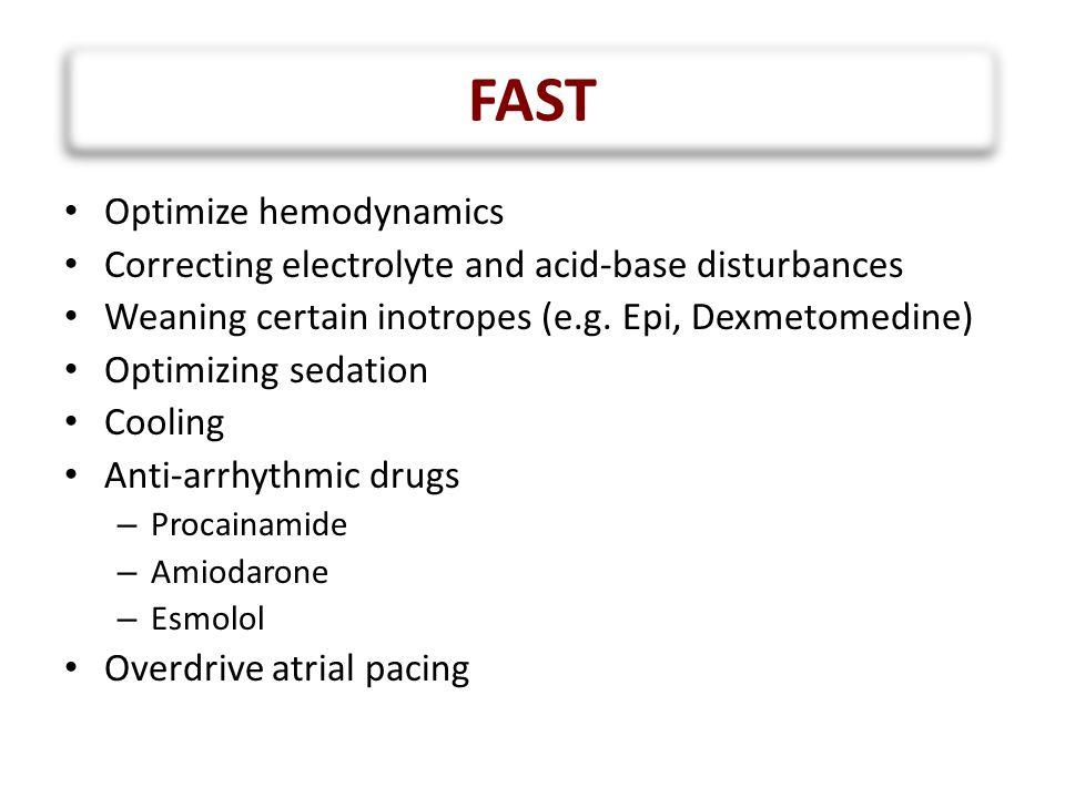 FAST Optimize hemodynamics