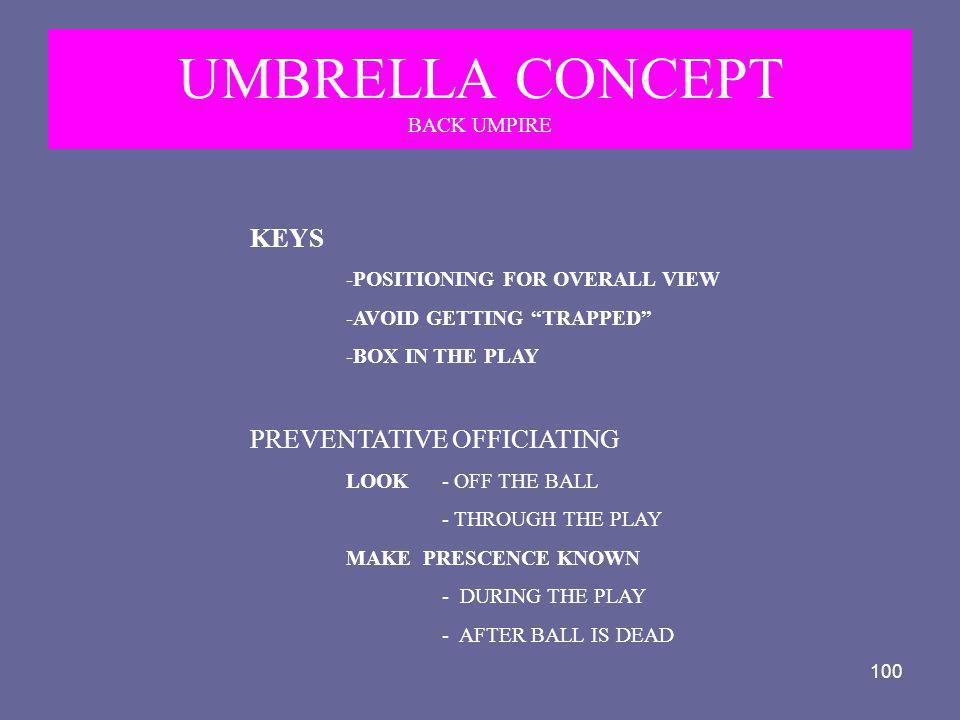 UMBRELLA CONCEPT BACK UMPIRE