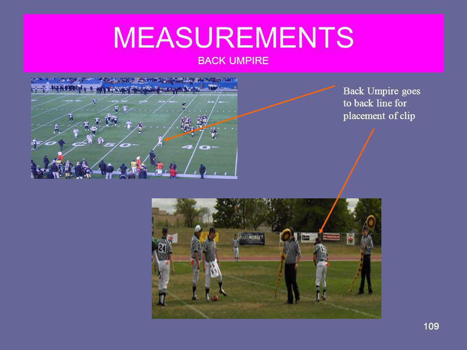 MEASUREMENTS BACK UMPIRE